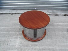 VINTAGE RETRO ONE OFF WASHING MACHINE DRUM TABLE WITH REPOLISHED TOP   DELIVERY