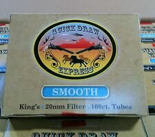 Quick Draw Express Cigarette Smooth King Tubes- Lot Of 10 Boxes=1,000 Tubes