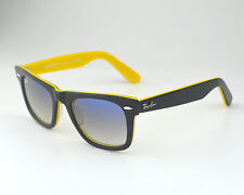 Ray-Ban RB2140 Wayfarer 1000/32 Black, Yellow Frame/Grey Lens Sunglasses 50mm