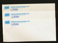 Lot of 3 SS Volendam Envelopes - Holland America Line