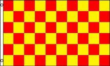 3'x5' CHECKERED FLAG RED & YELLOW OUTDOOR INDOOR BANNER PENNANT SPORTS NEW 3X5