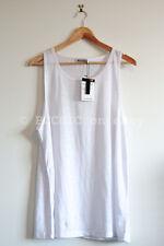 BNWT T BY ALEXANDER WANG 'linen silk oversized tank' white sleeveless top tee L