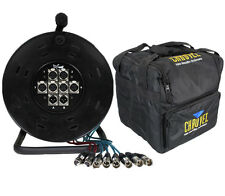 XLR Multicore 6/2 Way 25M Drum Stagebox & Chauvet CHS-40 Carry Case Package