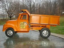 1950s TONKA STATE Hi-Way Lever Dump Truck Vintage Collectable press steel