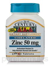 Zinc 50 mg - 110 Tablets by 21st Century