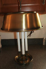 Vintage  Brass Bouillotte Candlestick Table Lamp Hollywood Regency Style