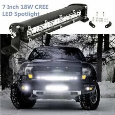 "7"" 18W Cree Led Work Light Bar Flood Spot ATV SUV Boat Driving Lamp Offroad 4WD"