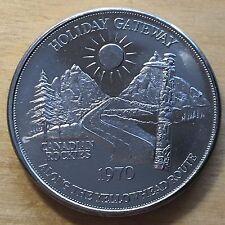 1970 Jasper Canada Souvenir Dollar, Holiday Gateway, Canadian Rockies (#X419)