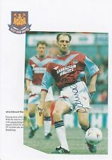 ALVIN MARTIN WEST HAM UTD 1977-1996 ORIGINAL HAND SIGNED MAGAZINE CUTTING