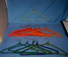 VTG Lot 14 Handmade CROCHETED/Knit YARN COVERED WIRE HANGERS Multi Colors!
