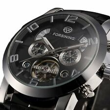FORSINING Auto Date Automatic Self-Wind Mechanical Watch Men Wristwatch Gift