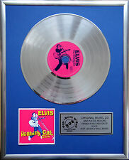 "Elvis The Hillbilly Cat CD/Cover gerahmt +12"" Deko goldene Vinyl Schallplatte"