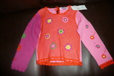 M 5 6 Patty crochet lace sweater nick nack patty wack NWT pink orange boutique