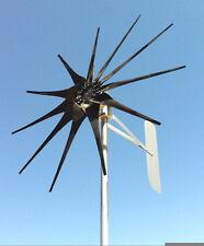 """WINGEN 1.5"""" wind turbine 11 blades black 24 volt AC 3W  PMG / PMA  900 Watt"""