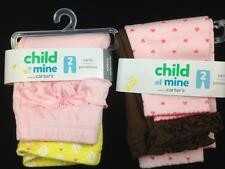 Lot of 4 baby girl ruffled pants NEWBORN Carter's Child Of Mine NEW w/ TAGS