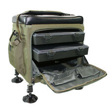 New NGT Session Box Storage Seat Carp/Coarse Fishing With Trays & Mud Feet