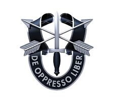US ARMY SPECIAL FORCES DE OPPRESSO LIBER CREST HAT PIN Green Berets Fort Bragg
