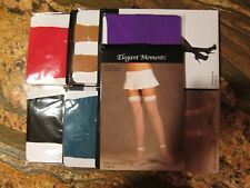 5 PAIR LOT 5 COLORS ELEGANT MOMENTS HOSIERYTHIGH HIGH STOCKINGS ONE SIZE