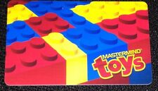 """MASTERMIND TOYS GIFT CARD """"LEGO"""" NO VALUE COLLECTIBLE NEW"""