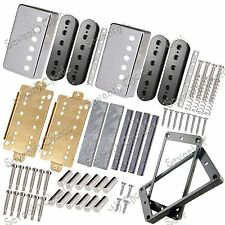LP Guitar Humbucker Pickup Kits Accessories,Brass Cover&Baseplate&Plastic Pickup