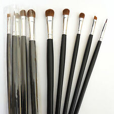 10 Piece Black Beautydec Cosmetic Eye Shadow Eyeliner Travel Eye Makeup Brushes