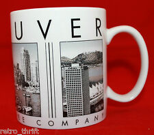 Cracked Starbucks Coffee 2003 City Scenes Series Vancouver Canada Mug Cup AS-IS