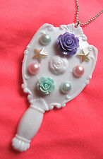 MIRROR PURPLE ROSE KITCH DIY NECKLACE INDIE GRUNGE KAWAII DECO DEN DECODEN