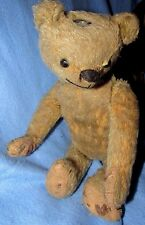 VINTAGE ANTIQUE TEDDY BEAR NECK JOINTING MUSIC TUMMY CLUNKER EARLY STEIFF BING ?