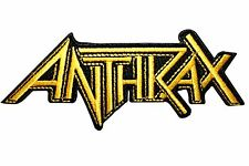 """""""Anthrax"""" Band Name Logo Thrash Metal Music Embroidered Iron On Applique Patch"""