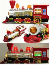 Electric Bump Go Bubble  Blowing Train Engine Machine Blower Loco Kids Party Toy
