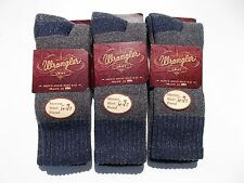 Wrangler Made In USA Merino Wool Blend Thick Warm Socks Size 9-13 Three Pairs
