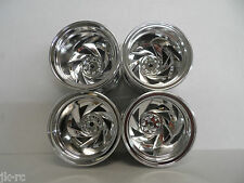 4 x New Tamiya Chrome Finished Wheels Only 0440196 12mm hex For Blackfoot 3