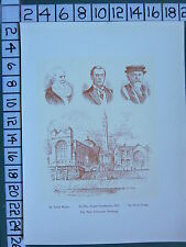 1909 PRINT ~ THE NEW UNIVERSITY BUILDINGS ~ SIR JOSIAH MASON JOSEPH CHAMBERLAIN