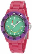 Smiley Happy Time WGS-CBRGV01 Colour Block Pink Green Dial Quartz Watch