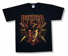 "PANTERA ""COWBOY"" SKULL HAT FROM HELL BLACK T-SHIRT NEW OFFICIAL ADULT SMALL S"