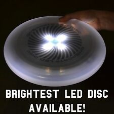 (White) GoSports LED Flying Light Up Disc - Great for Night Ultimate Frisbee