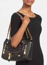 Moschino (Jeremy Scott) Large Motorcycle Jacket Bag in Black Leather