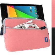 Pink Neopren Tasche Hülle Case für Neue Google Nexus 7 FHD 2. Gen (Aug 2013)