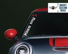 MIni Cooper Kiss my S Side Windshield Decal windows sticker graphic