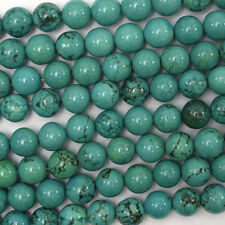 "8mm green turquoise round beads 15.5"" strand"