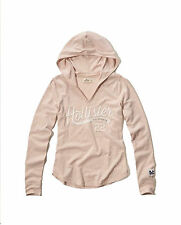 NEW HOLLISTER WOMENS PULLOVER GRAPHIC HOODIE HOODED T SHIRT LIGHTWEIGHT TOP SZ S