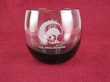 Vintage NFL Los Angeles Rams Smoked Glass Drink Tumbler Rare HTF