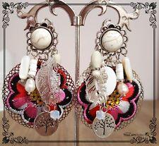 Boucles d'oreilles CLIP LOLILOTA LOL BIJOUX rose perle plume