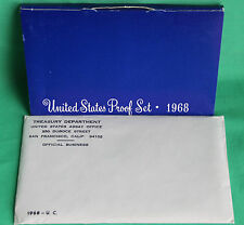 1968 Proof & Uncirculated Annual US Mint Coin Sets PDS 15 Coins 40% Silver Half