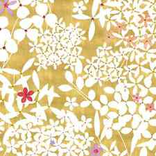 Caspari 2 Rolls (2 Full Sheets Each) Floral Lace Gold Gift Wrap / Wrapping Paper