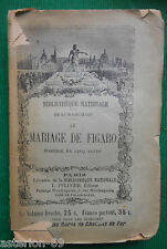 LE MARIAGE DE FIGARO BEAUMARCHAIS LIBRAIRIE BIBLIOTHEQUE NATIONALE PFLUGER