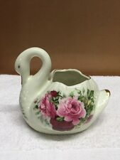 Formalities By Baum Brothers Porcelain Swan Figurine/Planter