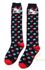 Sanrio Hello Kitty Knee High Socks with 3D Glasses Polka Dots LoungeFly Stocking