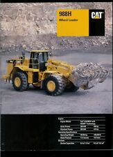 Rare Original Factory 2004 Caterpillar 988H Wheel Loader Dealer Brochure