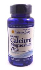 Chelated Calcium Magnesium Zinc 1000 mg 400 mg 25 mg 100  Coated Caplets
